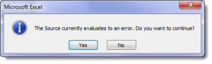 Error message using the INDIRECT function
