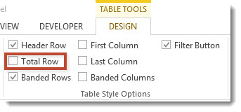 Total Row Check Box for Excel Tables
