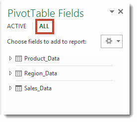 Excel 2013 Combining Multiple Tables in a PivotTable using the Data