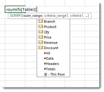 Refering to an column name in a formula