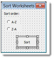 sort worksheets alphabetically in excel with a macro. Black Bedroom Furniture Sets. Home Design Ideas