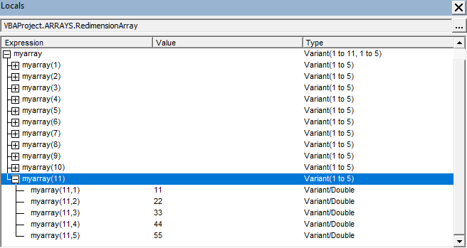 Excel Vba Storing Data In Arrays Dynamic. Locals Window. Worksheet. Vba Worksheetfunction Average Exle At Mspartners.co