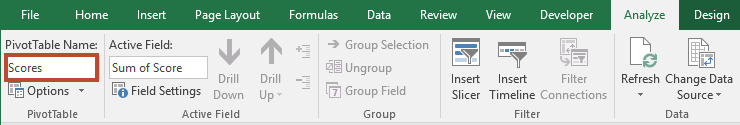 Automatically Refresh a PivotTable When its Data Source is